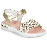 Παπούτσια Κορίτσι Σανδάλια / Πέδιλα Pablosky DANIE Gold / Άσπρο