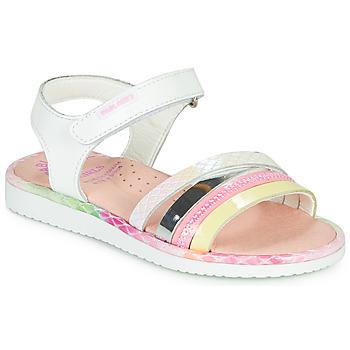 Παπούτσια Κορίτσι Σανδάλια / Πέδιλα Pablosky MOUNNA Άσπρο / Ροζ