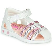 Παπούτσια Κορίτσι Σανδάλια / Πέδιλα Pablosky ELLA Άσπρο / Ροζ