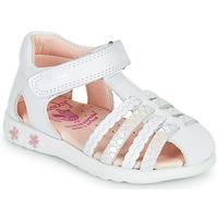 Παπούτσια Κορίτσι Σανδάλια / Πέδιλα Pablosky TONNI Άσπρο / Ροζ