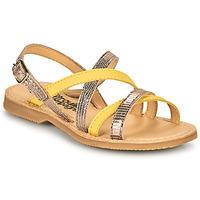 Παπούτσια Κορίτσι Σανδάλια / Πέδιλα Citrouille et Compagnie GENTOU Yellow / Silver