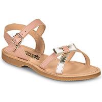 Παπούτσια Κορίτσι Σανδάλια / Πέδιλα Citrouille et Compagnie JISCOTTE Ροζ / Argenté