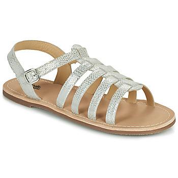 Παπούτσια Κορίτσι Σανδάλια / Πέδιλα Citrouille et Compagnie MAYANA Άσπρο / Argenté