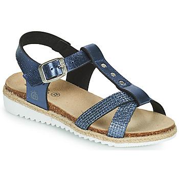 Παπούτσια Κορίτσι Σανδάλια / Πέδιλα Citrouille et Compagnie OMALA Μπλέ
