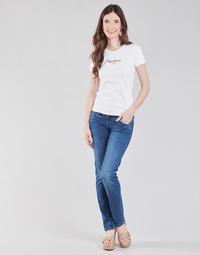 Υφασμάτινα Γυναίκα Τζιν σε ίσια γραμμή Pepe jeans GEN Μπλέ