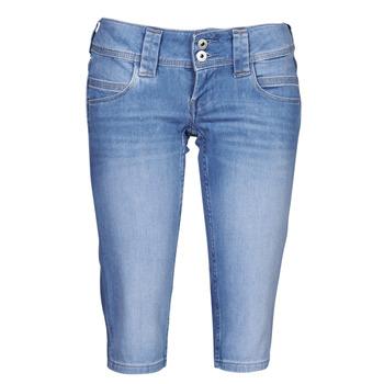 Υφασμάτινα Γυναίκα Κοντά παντελόνια Pepe jeans VENUS CROP Μπλέ