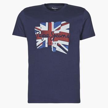 Υφασμάτινα Άνδρας T-shirt με κοντά μανίκια Pepe jeans DONALD Marine
