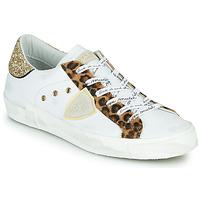 Παπούτσια Γυναίκα Χαμηλά Sneakers Philippe Model PARIS Άσπρο / Leopard