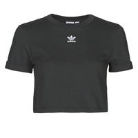 Υφασμάτινα Γυναίκα T-shirt με κοντά μανίκια adidas Originals CROP TOP Black