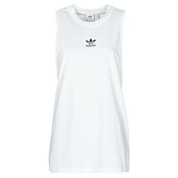 Υφασμάτινα Γυναίκα Αμάνικα / T-shirts χωρίς μανίκια adidas Originals TANK Άσπρο