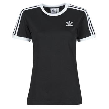 Υφασμάτινα Γυναίκα T-shirt με κοντά μανίκια adidas Originals 3 STRIPES TEE Black