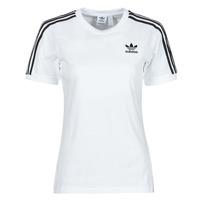 Υφασμάτινα Γυναίκα T-shirt με κοντά μανίκια adidas Originals 3 STRIPES TEE Άσπρο