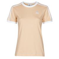 Υφασμάτινα Γυναίκα T-shirt με κοντά μανίκια adidas Originals 3 STRIPES TEE Orange