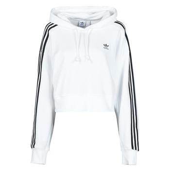 Υφασμάτινα Γυναίκα Φούτερ adidas Originals SHORT HOODIE Άσπρο