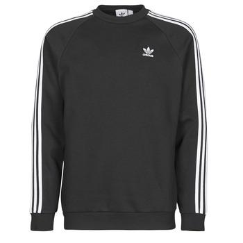 Υφασμάτινα Άνδρας Φούτερ adidas Originals 3-STRIPES CREW Black