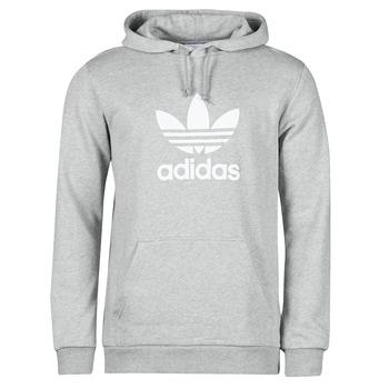 Υφασμάτινα Άνδρας Φούτερ adidas Originals TREFOIL HOODIE Grey