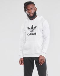 Υφασμάτινα Άνδρας Φούτερ adidas Originals TREFOIL HOODIE Άσπρο