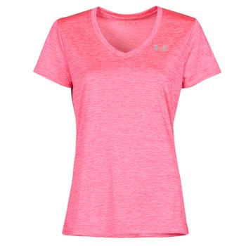 Υφασμάτινα Γυναίκα T-shirt με κοντά μανίκια Under Armour TECH SSV Ροζ