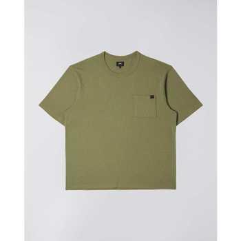 Υφασμάτινα Άνδρας T-shirt με κοντά μανίκια Edwin T-shirt  Oversized vert kaki