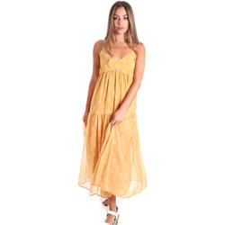 Υφασμάτινα Γυναίκα Μακριά Φορέματα Fracomina FR20SMLINDA Κίτρινος