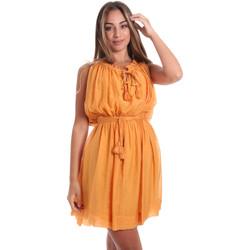 Υφασμάτινα Γυναίκα Κοντά Φορέματα Fracomina FR20SMANA Κίτρινος