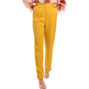 Υφασμάτινα Γυναίκα Παντελόνια Fracomina FR20SM649 Κίτρινος
