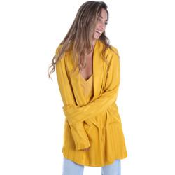 Υφασμάτινα Γυναίκα Σακάκι / Blazers Fracomina FR20SM648 Κίτρινος