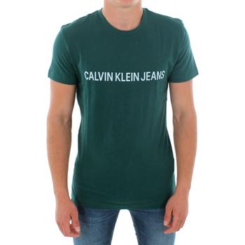 Υφασμάτινα Άνδρας T-shirt με κοντά μανίκια Calvin Klein Jeans J30J307856 372 GREEN Verde