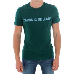 Υφασμάτινα Άνδρας T-shirt με κοντά μανίκια Calvin Klein Jeans J30J307856 383 GREEN Verde oscuro