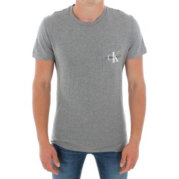 Υφασμάτινα Άνδρας T-shirt με κοντά μανίκια Calvin Klein Jeans J30J311023 039 LIGHT GREY MELANGE Gris
