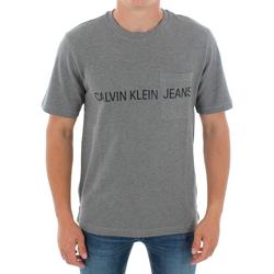 Υφασμάτινα Άνδρας T-shirt με κοντά μανίκια Calvin Klein Jeans J30J313251 039 GREY HEATHER Gris