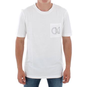 Υφασμάτινα Άνδρας T-shirt με κοντά μανίκια Calvin Klein Jeans J30J309612 112 OFF WHITE Blanco