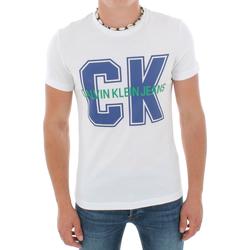 Υφασμάτινα Άνδρας T-shirt με κοντά μανίκια Calvin Klein Jeans J30J313241 112 WHITE Blanco