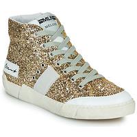 Παπούτσια Γυναίκα Ψηλά Sneakers Meline NKC1369 Gold