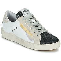 Παπούτσια Γυναίκα Χαμηλά Sneakers Meline NKC139 Άσπρο / Glitter / Black