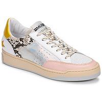 Παπούτσια Γυναίκα Χαμηλά Sneakers Meline BZ180 Άσπρο / Ροζ