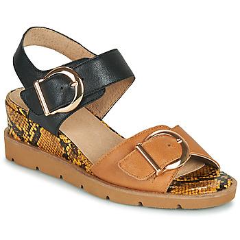 Παπούτσια Γυναίκα Σανδάλια / Πέδιλα Sweet ETOXYS Black / Camel