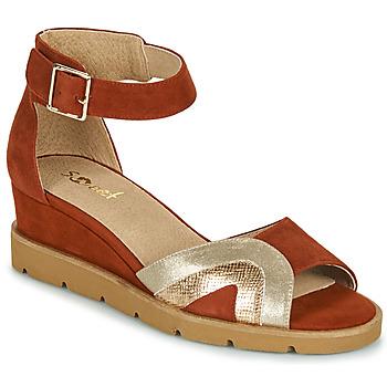 Παπούτσια Γυναίκα Σανδάλια / Πέδιλα Sweet ETUVESS Bordeaux / Gold