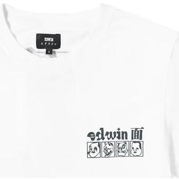 Υφασμάτινα Άνδρας T-shirt με κοντά μανίκια Edwin T-shirt  Hokusai Noh Masks blanc/noir