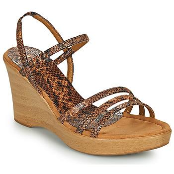 Παπούτσια Γυναίκα Σανδάλια / Πέδιλα Unisa RENERA Brown / Python
