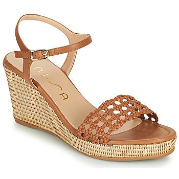 Παπούτσια Γυναίκα Σανδάλια / Πέδιλα Unisa LOBI Camel