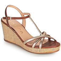 Παπούτσια Γυναίκα Σανδάλια / Πέδιλα Unisa LLINAR Gold