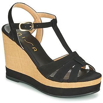Παπούτσια Γυναίκα Σανδάλια / Πέδιλα Unisa MANACOR Black