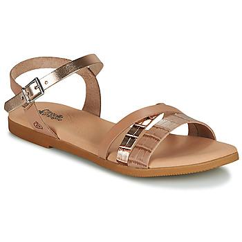 Παπούτσια Κορίτσι Σανδάλια / Πέδιλα Citrouille et Compagnie OBINOU Tan / Gold