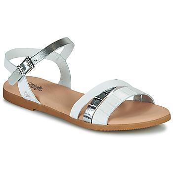 Παπούτσια Κορίτσι Σανδάλια / Πέδιλα Citrouille et Compagnie OBINOU Άσπρο / Argenté