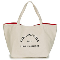 Τσάντες Γυναίκα Cabas / Sac shopping Karl Lagerfeld RUE ST GUILLAUE CANVAS TOTE Ecru