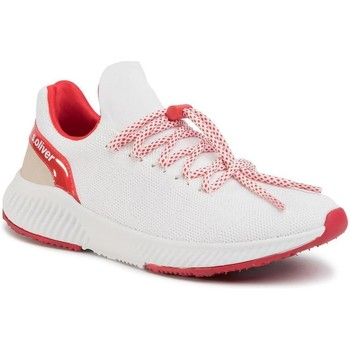 Xαμηλά Sneakers S.Oliver White Red Flat Shoes [COMPOSITION_COMPLETE]