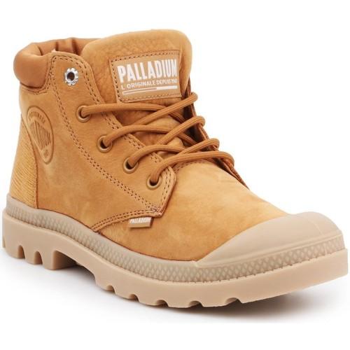 Παπούτσια Γυναίκα Ψηλά Sneakers Palladium Manufacture Pampa LO Cuff LEA 95561-717-M brown