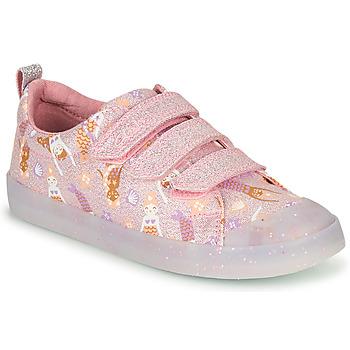 Παπούτσια Κορίτσι Χαμηλά Sneakers Clarks FOXING PRINT T Ροζ