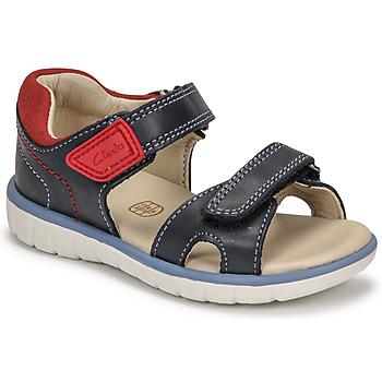 Παπούτσια Αγόρι Σανδάλια / Πέδιλα Clarks ROAM SURF K Marine / Red